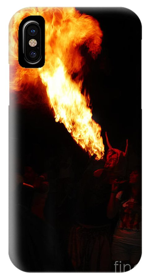 Fuego IPhone X Case featuring the photograph Fire Flower by Agusti Pardo Rossello