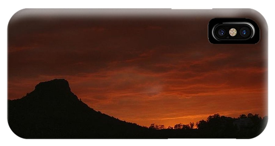 Sunset IPhone X Case featuring the photograph Fire Sky by Ramie Liddle