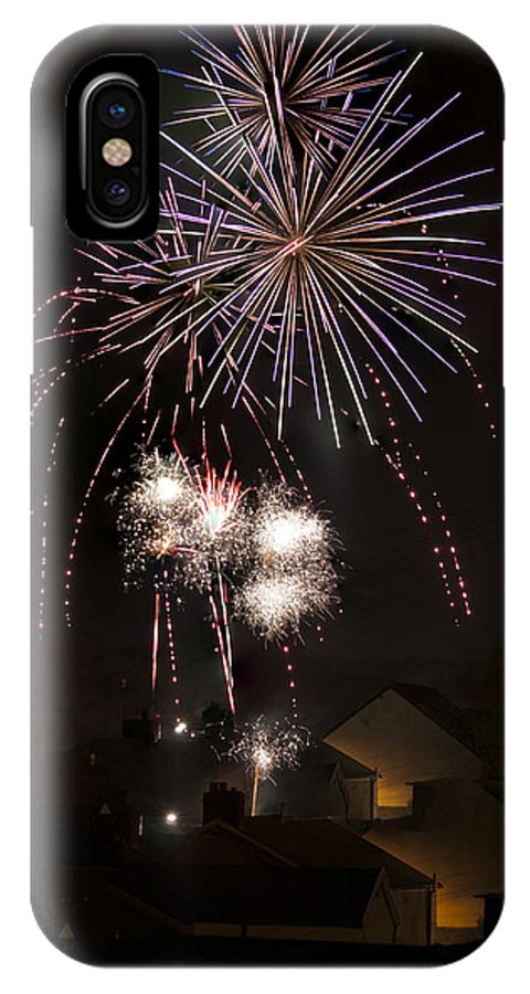Fireworks IPhone X Case featuring the photograph Fireworks 1 by Steve Purnell