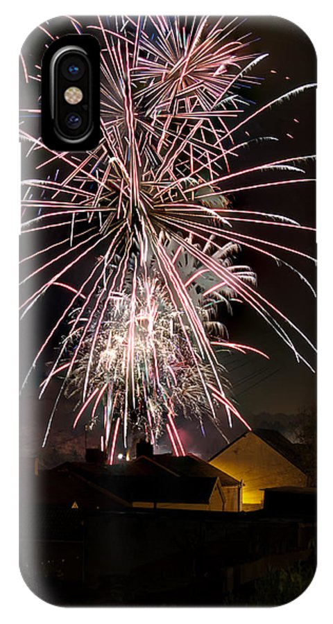 Fireworks IPhone X Case featuring the photograph Fireworks 2 by Steve Purnell