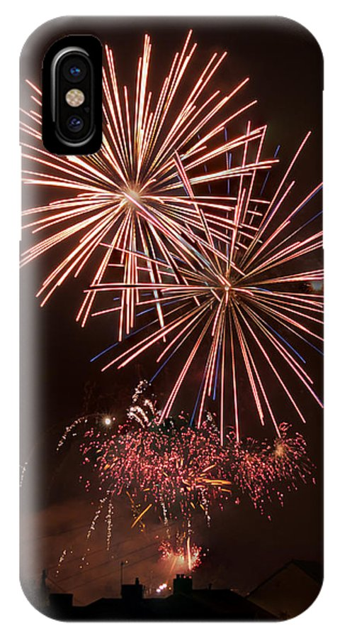 Fireworks IPhone X Case featuring the photograph Fireworks 4 by Steve Purnell