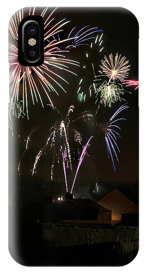 Fireworks IPhone X Case featuring the photograph Fireworks 5 by Steve Purnell