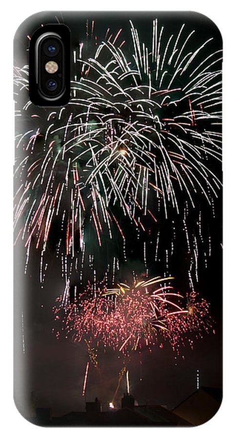 Fireworks IPhone X Case featuring the photograph Fireworks 6 by Steve Purnell