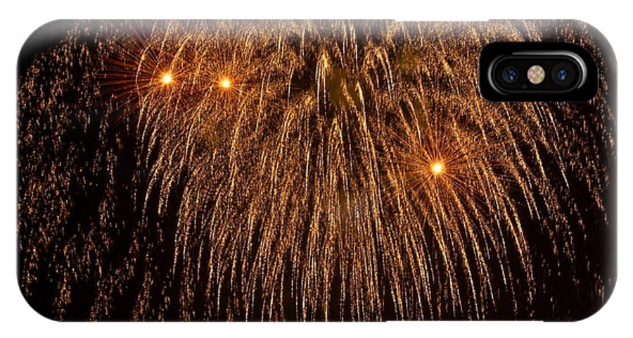 Fireworks IPhone X Case featuring the photograph Fireworks by Carol Bradley