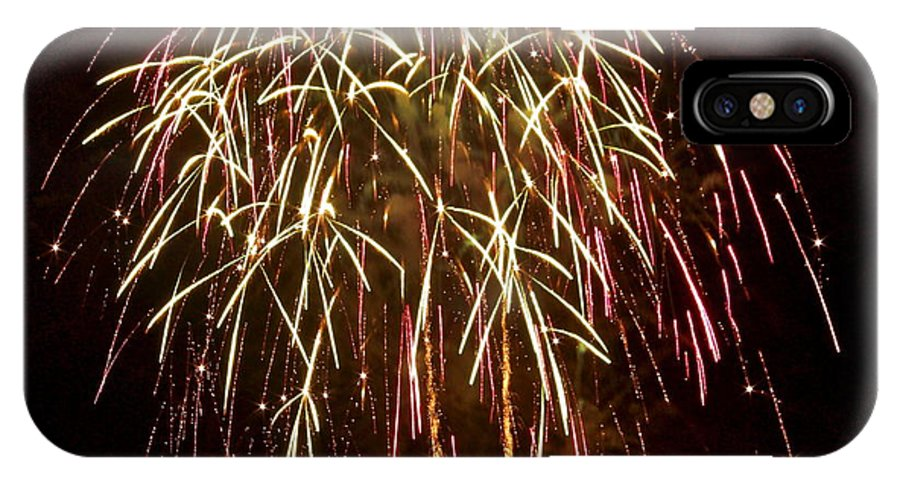 Fireworks IPhone X Case featuring the photograph Fireworks II by Carol Bradley