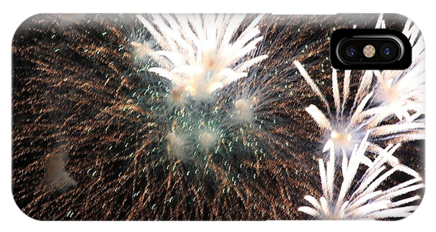 Fireworks IPhone X Case featuring the photograph Fireworks by John McManus