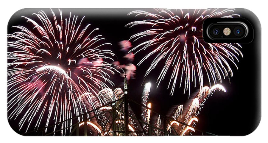Fireworks IPhone X Case featuring the photograph Fireworks by Michael Dorn
