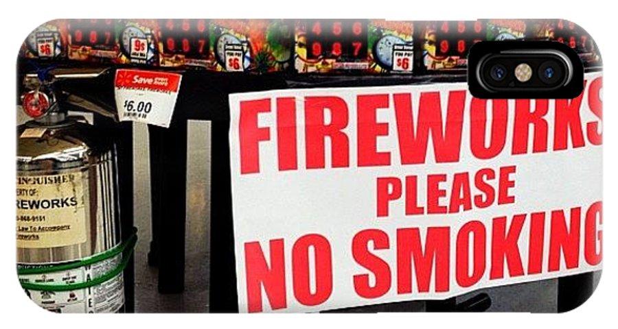 the latest ea821 f2285 #fireworks #nosmoking #walmart #florida IPhone X Case