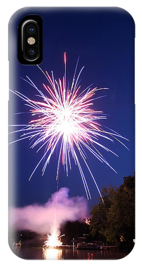 Fireworks IPhone X Case featuring the photograph Fireworks One by Ty Helbach