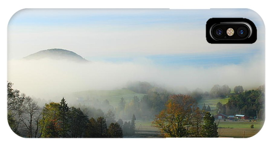 Autumn IPhone X / XS Case featuring the photograph First Frost Peacham Vermont by John Burk