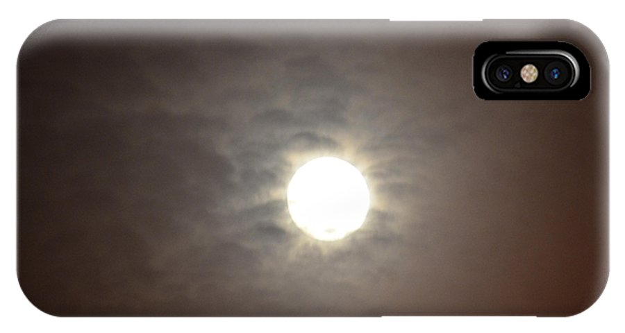 First IPhone X Case featuring the photograph First Moon August 1 2012 by Maria Urso