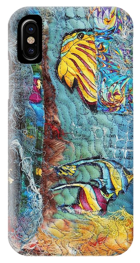 Fish Images IPhone X Case featuring the mixed media Fish 2 by Averil Stuart-Head