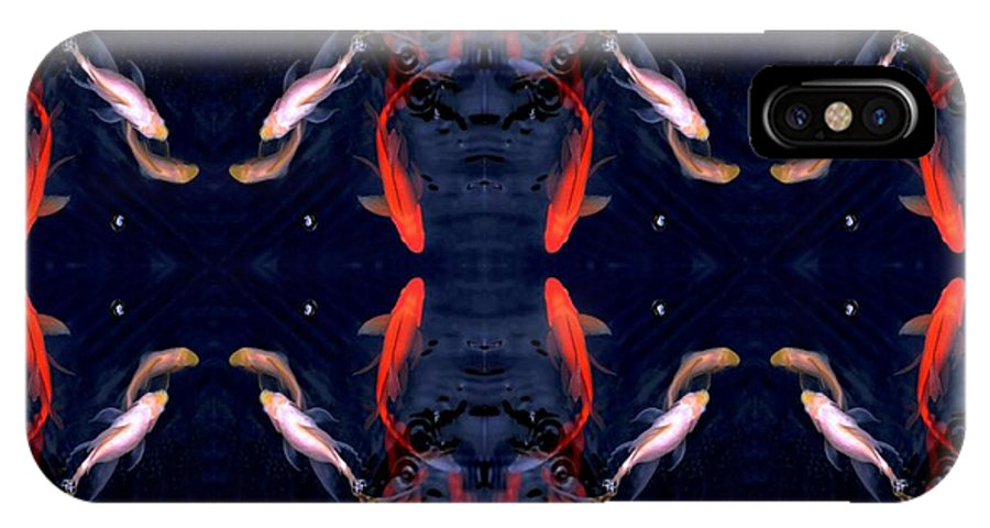 Fish IPhone X Case featuring the digital art Fish Ballet by Dale  Ford