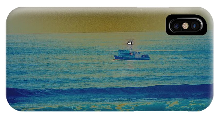Water IPhone X Case featuring the photograph Fishing Boat by One Rude Dawg Orcutt