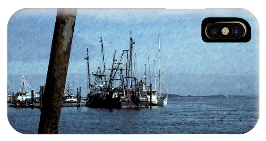 Bay IPhone X Case featuring the photograph Fishing Boats In Harbor by One Rude Dawg Orcutt