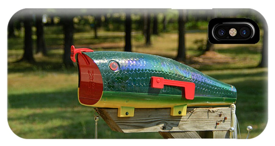 IPhone X Case featuring the photograph Fishing Lure Mailbox 2 by Douglas Barnett