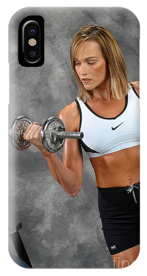 Model IPhone X Case featuring the photograph Fitness 5 by Gary Gingrich Galleries