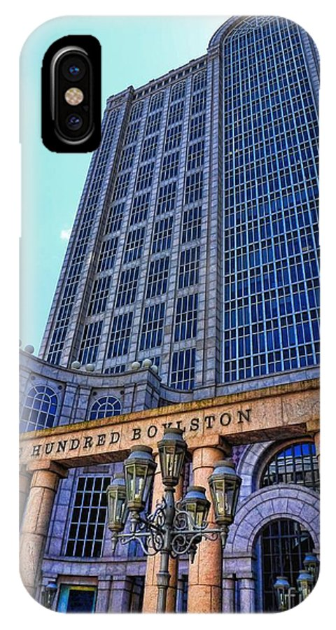 Julia Springer IPhone X Case featuring the photograph Five Hundred Boylston - Boston Architecture by Julia Springer