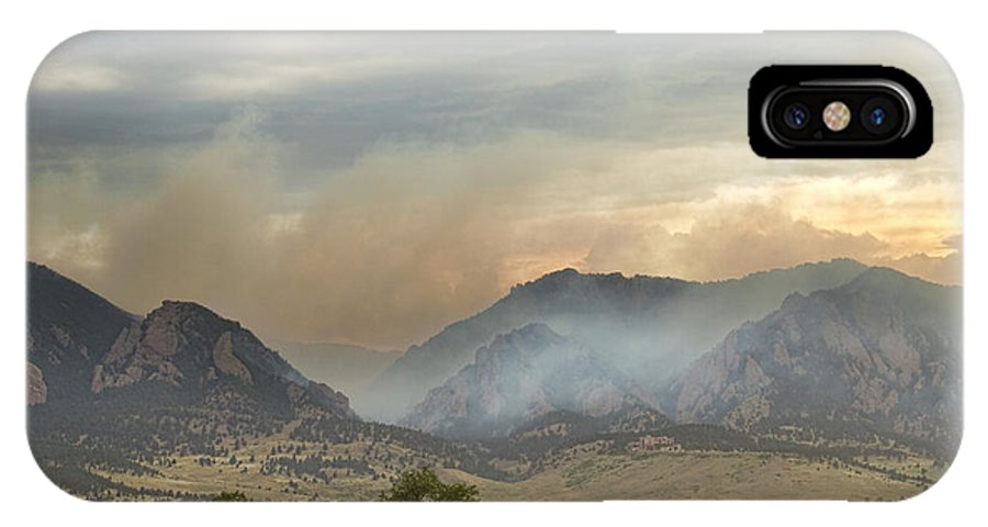 Flagstaff Fire IPhone X Case featuring the photograph Flagstaff Fire by James BO Insogna