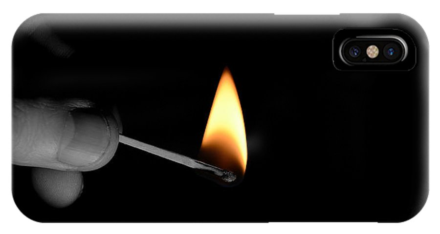 Light IPhone X Case featuring the photograph Flame by La Dolce Vita