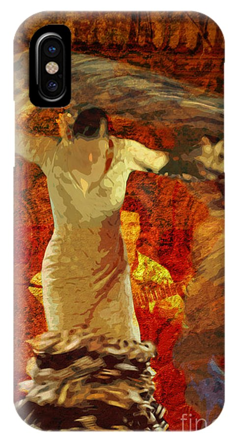 Flamenco IPhone X Case featuring the photograph Flamenco Series No 2 by Mary Machare