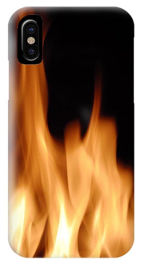 Flame IPhone X / XS Case featuring the photograph Flames by Jeremy Walker