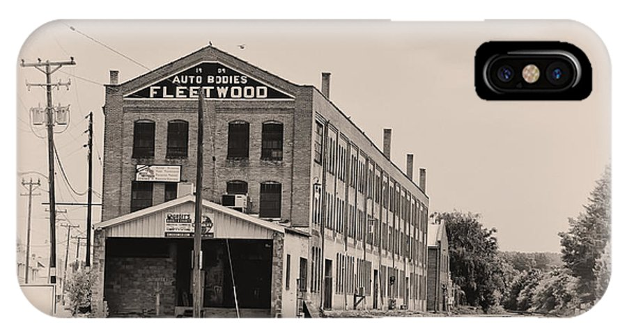Packard IPhone X Case featuring the photograph Fleetwood Autobody Factory by Bill Cannon