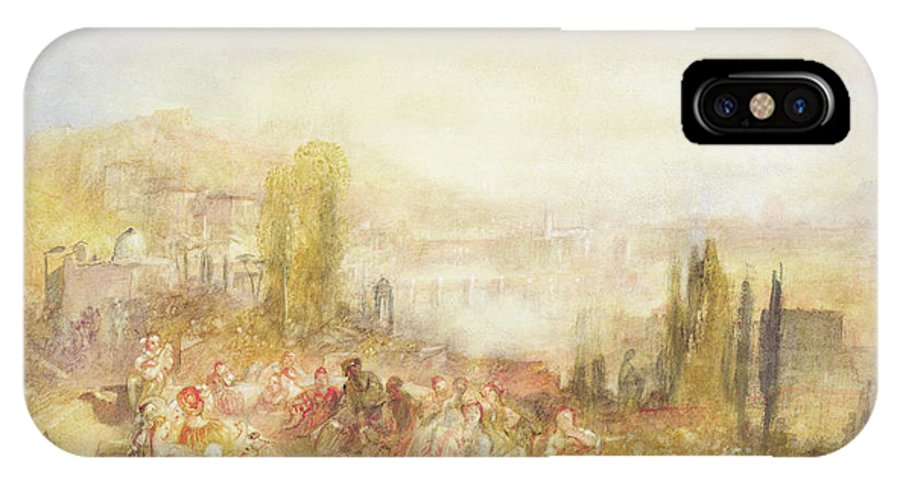 Florence IPhone X Case featuring the painting Florence by Joseph Mallord William Turner
