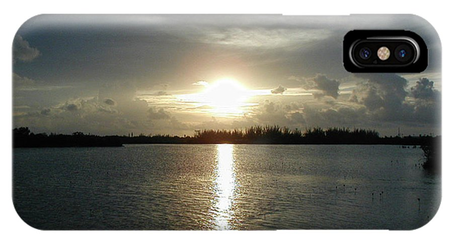Sunset IPhone X Case featuring the photograph Florida Keys Sunset by Michael Waters