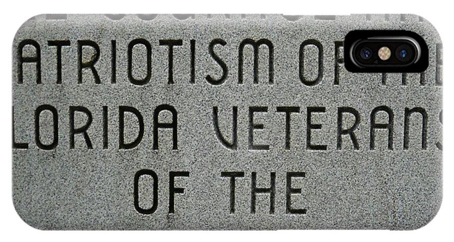 Vietnam War IPhone X Case featuring the photograph Florida Vietnam War Memorial by Duwayne Washington