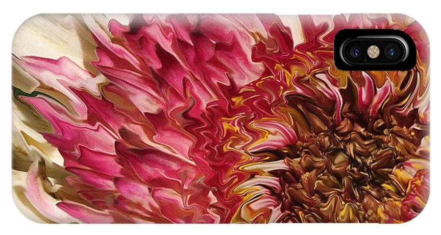 Flower IPhone X Case featuring the photograph Flower Art by Susan Cliett