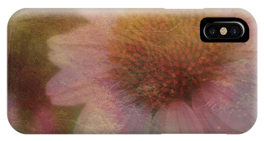 Daisy IPhone X Case featuring the mixed media Flower Paper by Kim Henderson