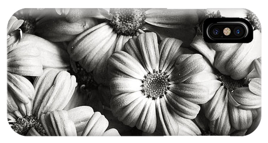 Flowers IPhone X Case featuring the photograph Flowers In Sepia Tone by Sumit Mehndiratta