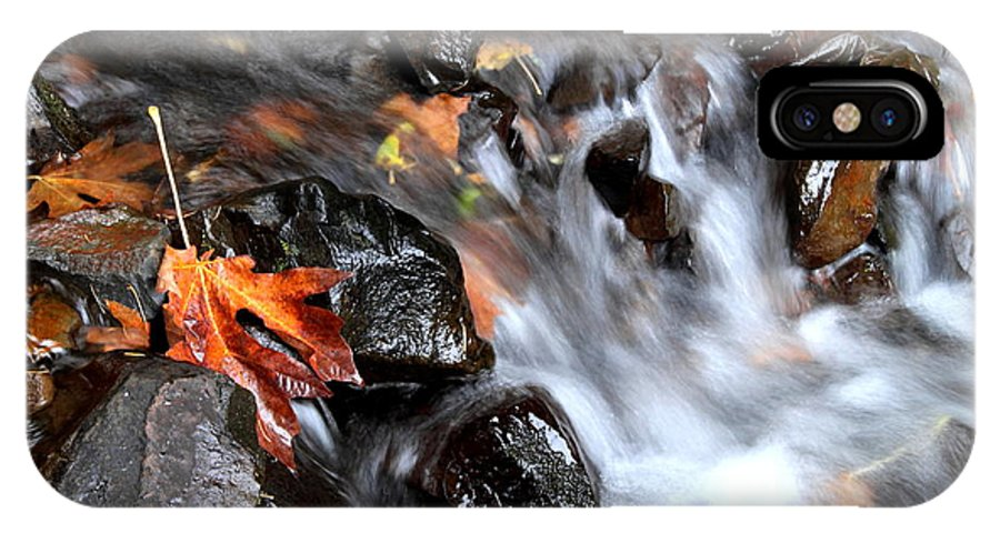 Stream IPhone X Case featuring the photograph Flowing Color by Angie Vogel