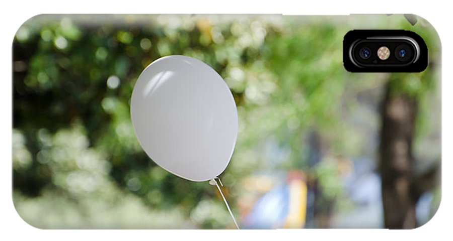 Balloon IPhone X Case featuring the photograph Flying Balloon by Mats Silvan