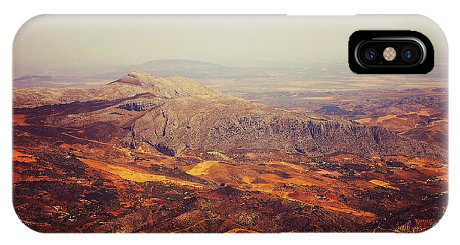 Spain IPhone X Case featuring the photograph Flying Over Spanish Land by Jenny Rainbow