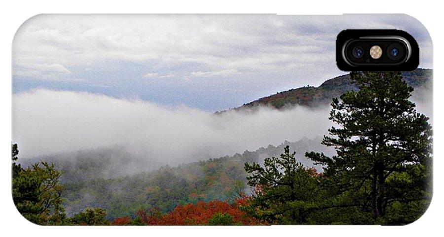 Fog IPhone X Case featuring the photograph Fog And Foliage by Tisha Clinkenbeard
