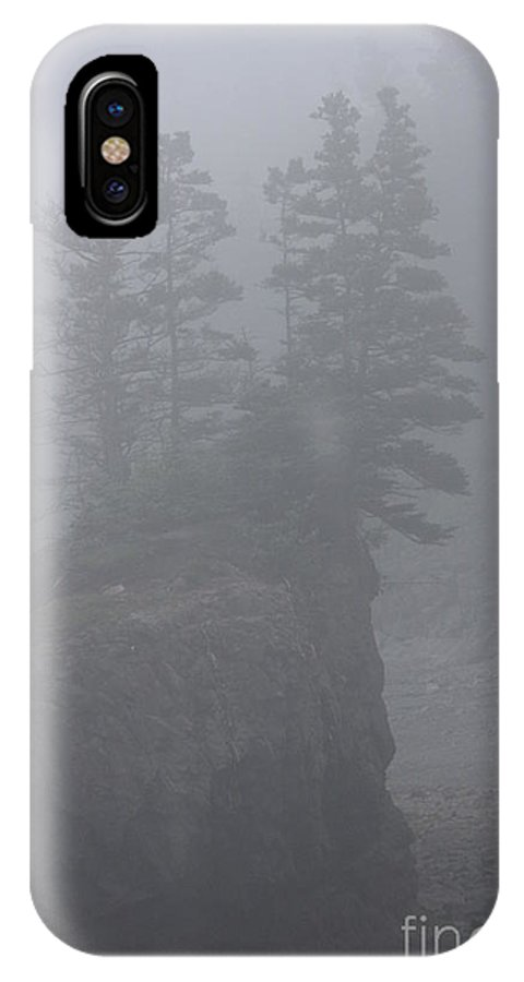 Foggy IPhone X Case featuring the photograph Foggy by Diane Greco-Lesser