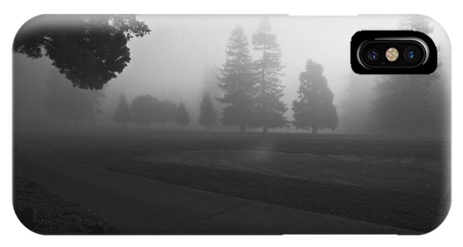 Fog IPhone X Case featuring the photograph Foggy Fairway by Lennie Green