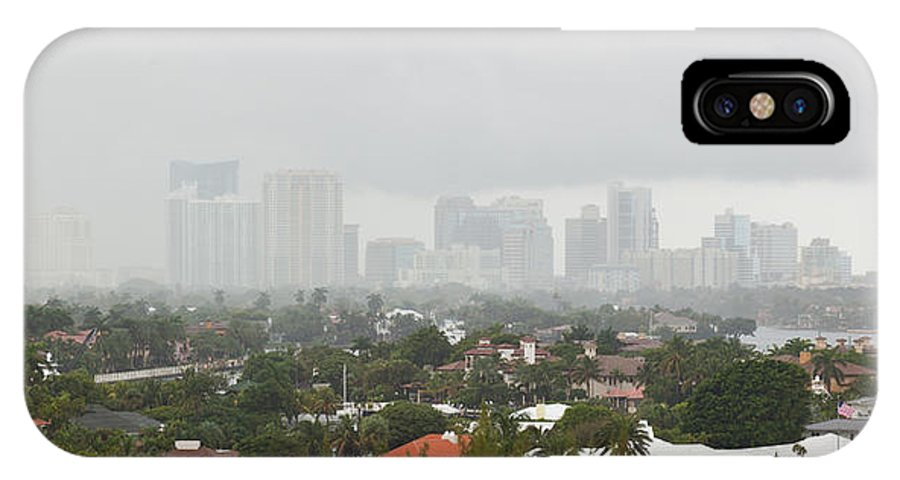 Fort Lauderdale IPhone X Case featuring the photograph Foggy Fort Lauderdale Florida by Michelle Constantine