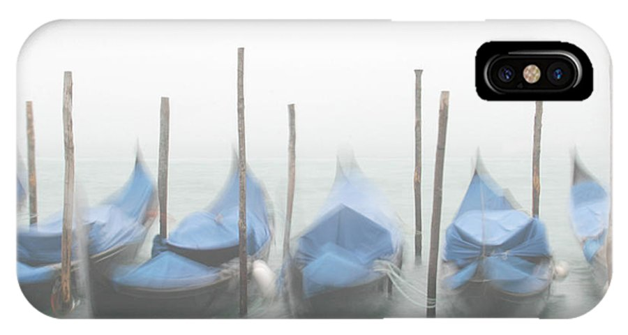 Venice IPhone X Case featuring the photograph Foggy Morning Grand Canal by Tom and Pat Cory