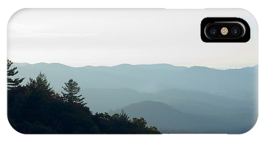 Nature IPhone X Case featuring the photograph Foggy Mountains by Kenneth Albin