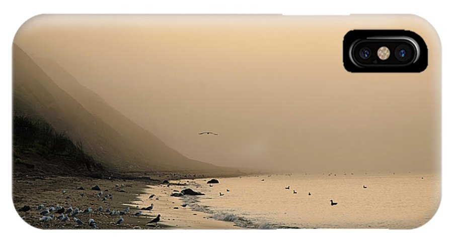 Beach IPhone X Case featuring the photograph Foggy Shores by Jeff Galbraith