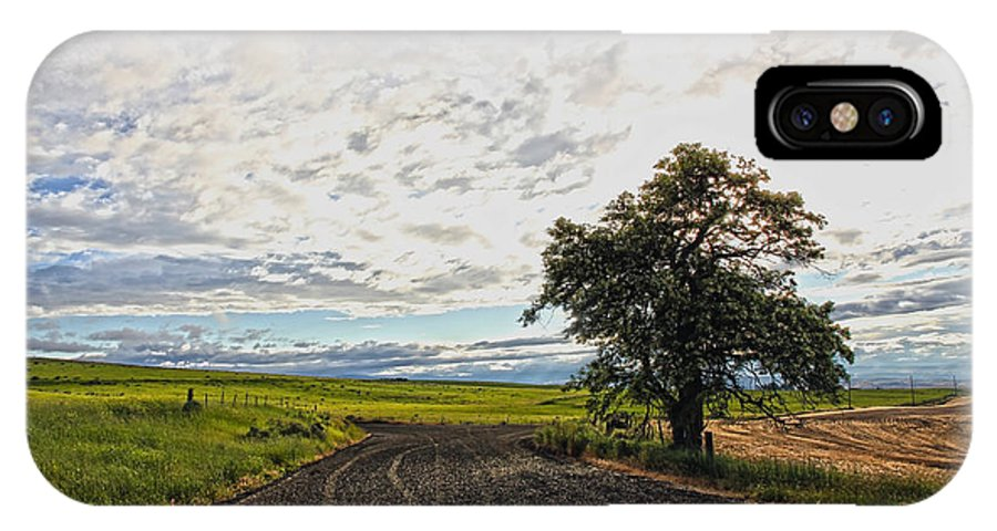 Trees IPhone X / XS Case featuring the photograph Follow The Clouds by Athena Mckinzie