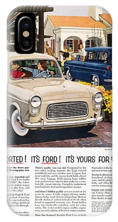 1959 IPhone X Case featuring the photograph Ford Avertisement, 1959 by Granger