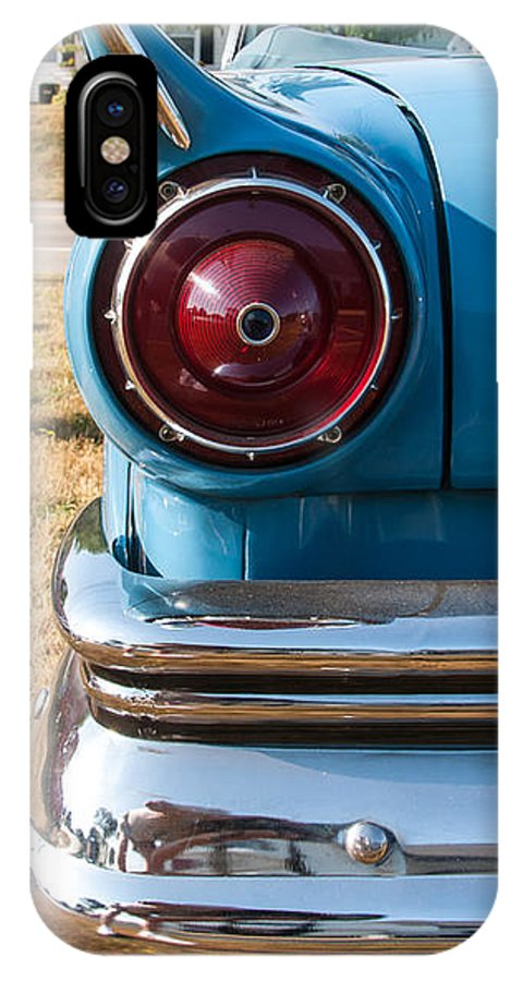 1957 Ford IPhone X Case featuring the photograph Ford Tail by Guy Whiteley