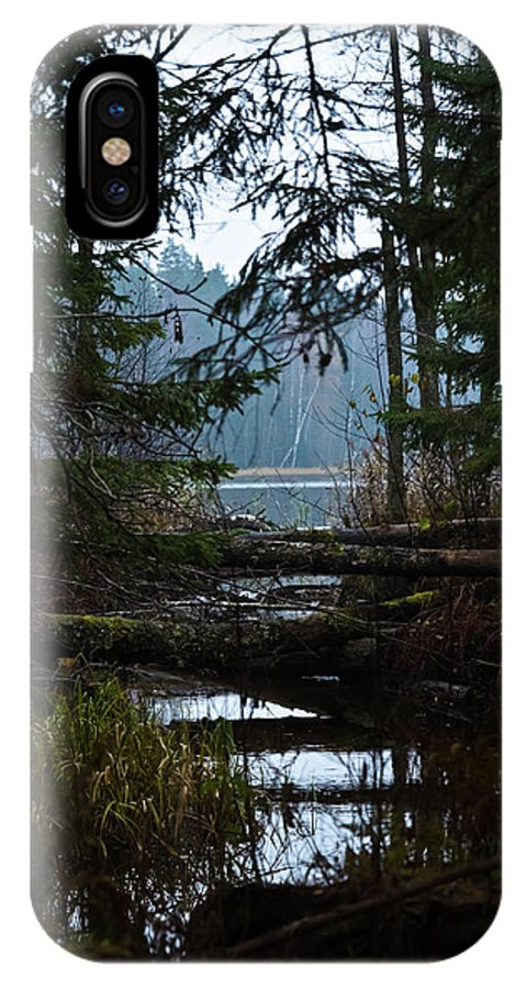 Autumn IPhone X / XS Case featuring the photograph Forest Lake by Michael Goyberg