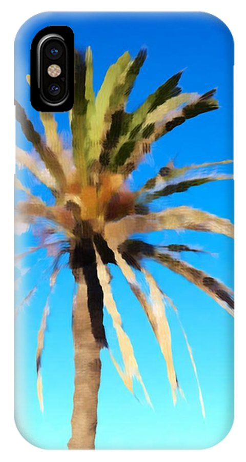 Photographs IPhone X Case featuring the photograph Fornells Palm Tree by John Colley