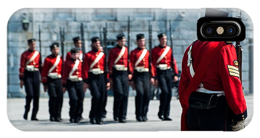 Fort Henry IPhone X Case featuring the photograph Fort Henry Guards Drill by Nicole Couture-Lord
