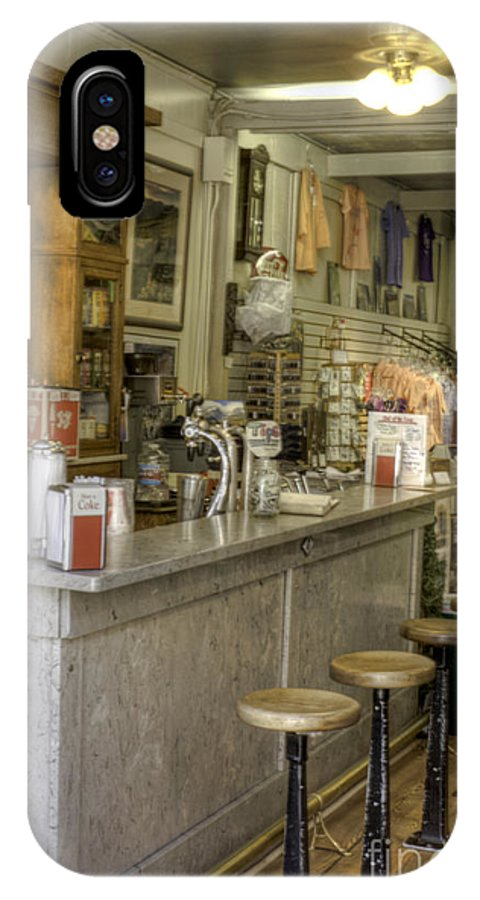 Soda Fountain IPhone X Case featuring the photograph Four Stools by David Bearden